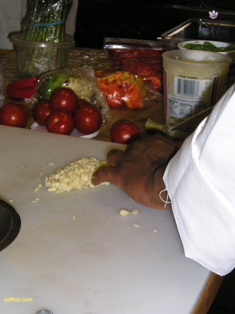 Vanilla, Saffron Imports Paella at California Culinary Academy%0A2005 002
