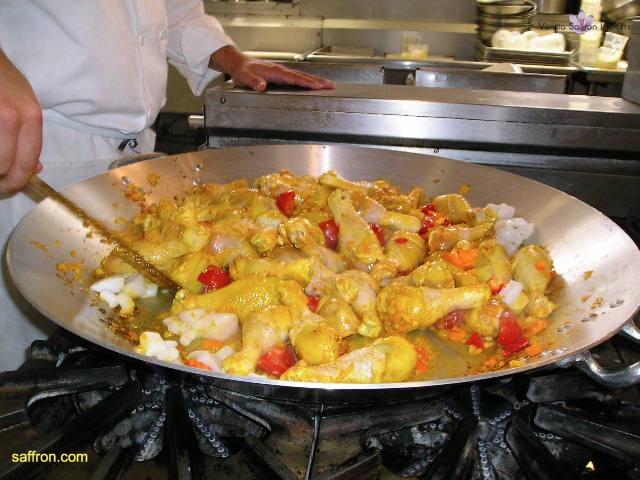 Vanilla, Saffron Imports Paella at California Culinary Academy%0A2005 012