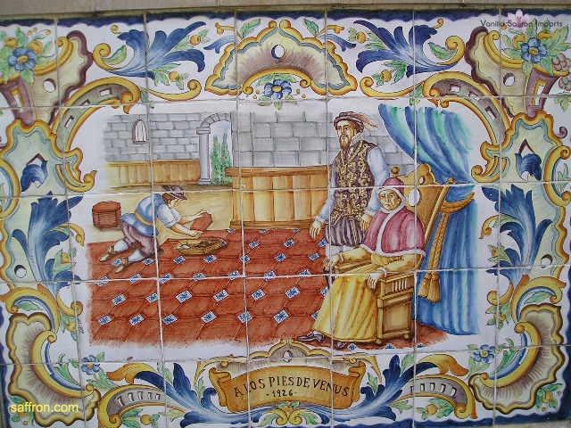 Vanilla, Saffron Imports Paella Tiles 533