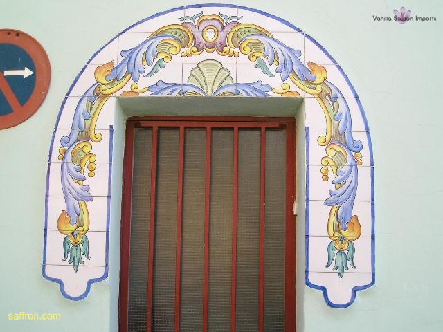 Vanilla, Saffron Imports Paella Tiles 564