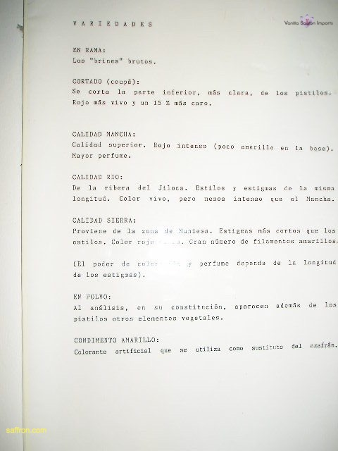 Vanilla, Saffron Imports Museo del Azafran, Monreal del Campo Teruel Spain 2004 763